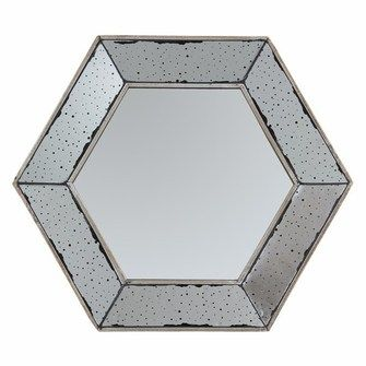 Lustro Hexagonal Antique Bronze 53x53x4cm