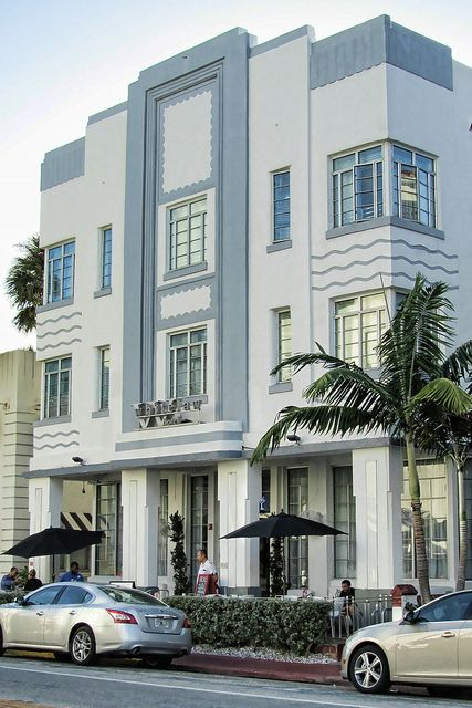 Art Deco Whitelaw Hotel on Collins Avenue in the South Beach Area of Miami Beach, Florida.