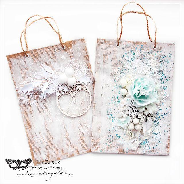 Christmas gift bags - by Kasia Bogatko