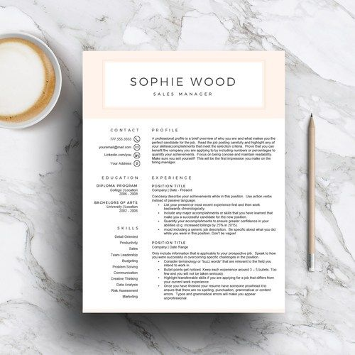 resume template and modern resume image