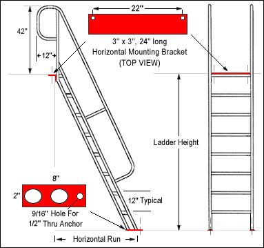 Best Ships Ladder In Elevation And Side Specs Staircase 400 x 300