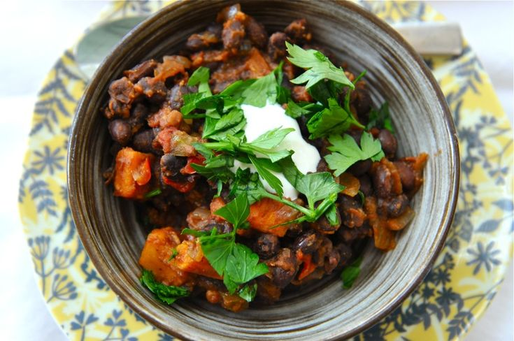 Sweet Potato & Black Bean Chili | Tasty Delights | Pinterest | Good ...