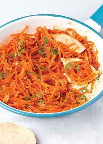 Receta de tinga de zanahoria y col. Esta receta es una completa delicia, a todos les encantará probarla. Ideal por si gustas comenzar una dieta vegetariana.