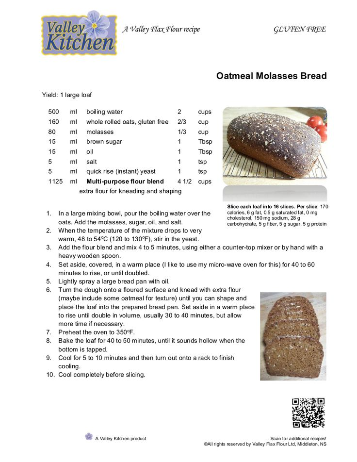 Oatmeal Molasses Bread from Valley Kitchen