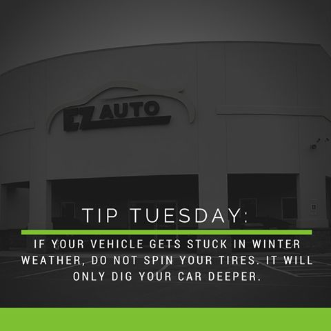 Happy #TipTuesday from your friends at EZ Auto! Winter Weather is on its way, make sure you are prepared.