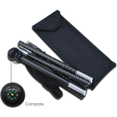 Collapsible Walking Stick w/ Compass and Monopod for DSLR & DC