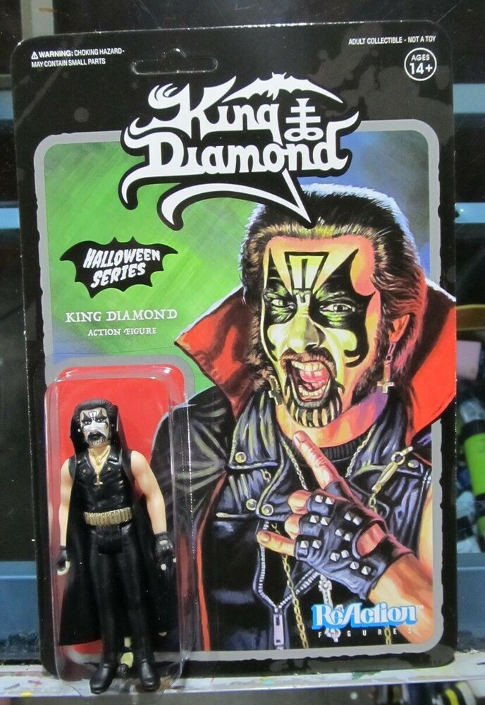 King Diamond Black Halloween Series Super 7 ReAction Action Figure New