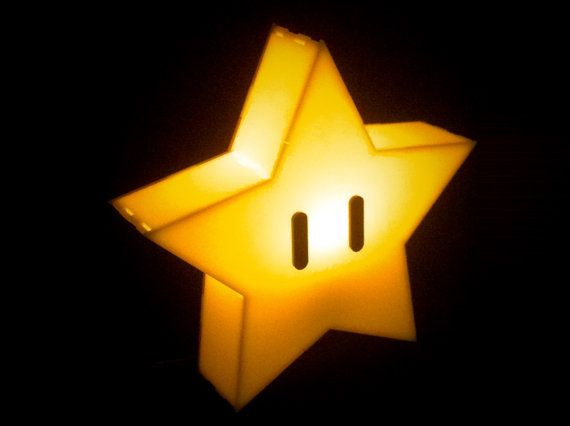 Super Mario Bros. Star Lamp.  Unfortunately the lamp won't grant you invincibility, but it will make you smile every time you light it!