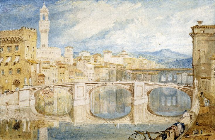 Joseph-Mallord-William-Turner-Paintings-Florence-from-the-Ponte-alla-Carraia-1818