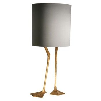 Porta Romana Duck Feet Lamp Decayed Gold - Height 530mm | Table Lamps | £778.80 at Amara