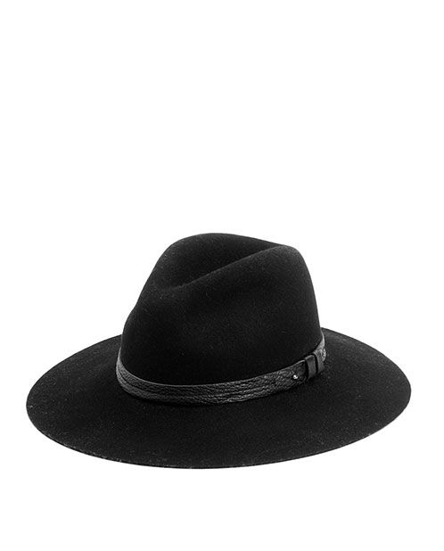 Wide Brim Fedora - Black