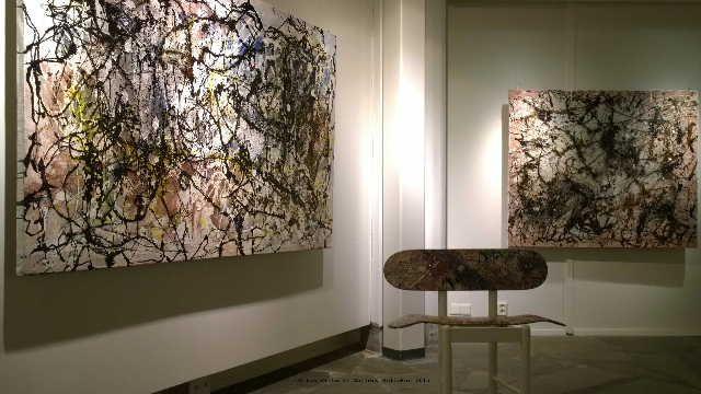 Périphérigue-set, mixed media on canvas at Gallery Kellokas 2015