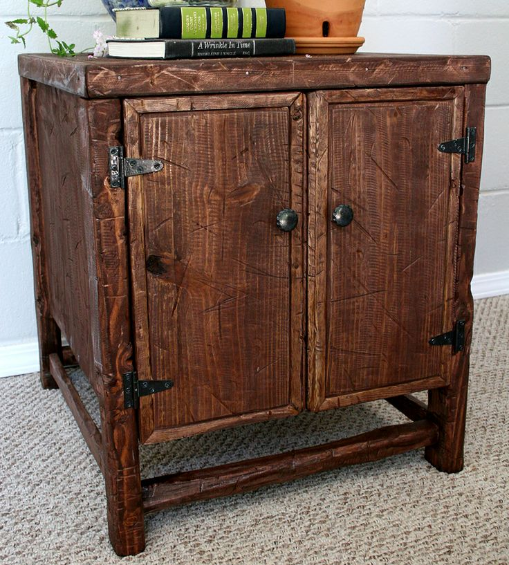 Rustic Pine Side Table