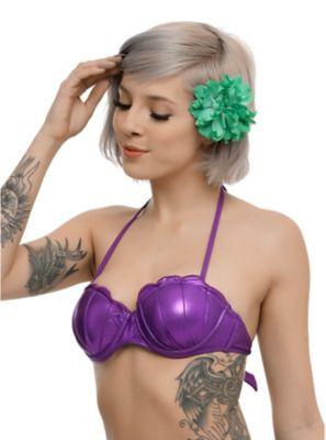 "<p>Disney swim top inspired by Ariel's purple seashells.</p>  <p>Want the matching swim pieces? Click below!</p>  <p><u><a href=""http://www.hottopic.com/product/disney-the-little-mermaid-ariel-ruffled-swim-bottoms/10481720.html"">Disney The Little Mermaid Ariel Ruffled Swim Bottoms</a></u></p>  <p><u><a href=""http://www.hottopic.com/product/disney-the-little-mermaid-green-girls-swim-cover-up/10484409.html"">Disney The Little Mermaid Green Girls Swim Cover Up</a></u></p>  <ul> <li>Body: 85%…"