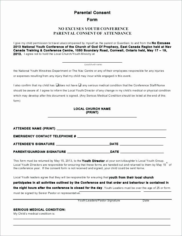 Parents Consent Form Template Fresh Youth Conference Registration Form Template Permission In 2020 Consent Forms Child Travel Consent Form Parental Consent