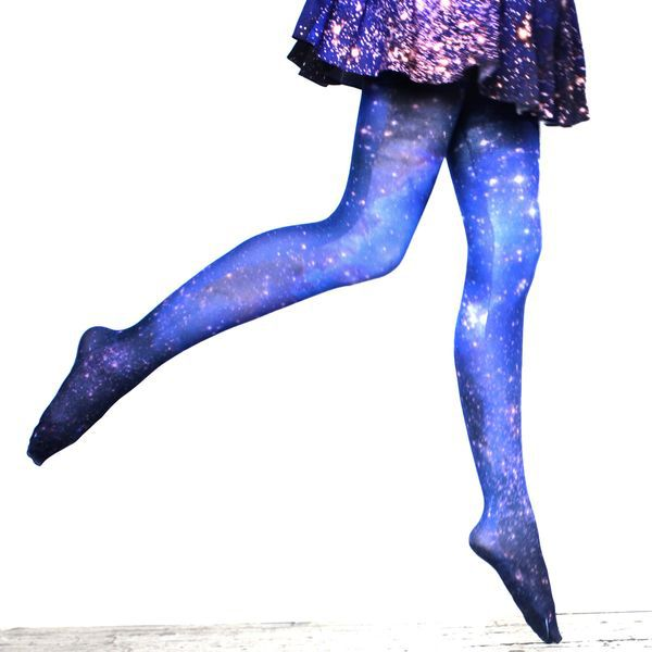 Galaxy Tights - WoW SO Neat! These beautiful galaxy tights feature a space print!!
