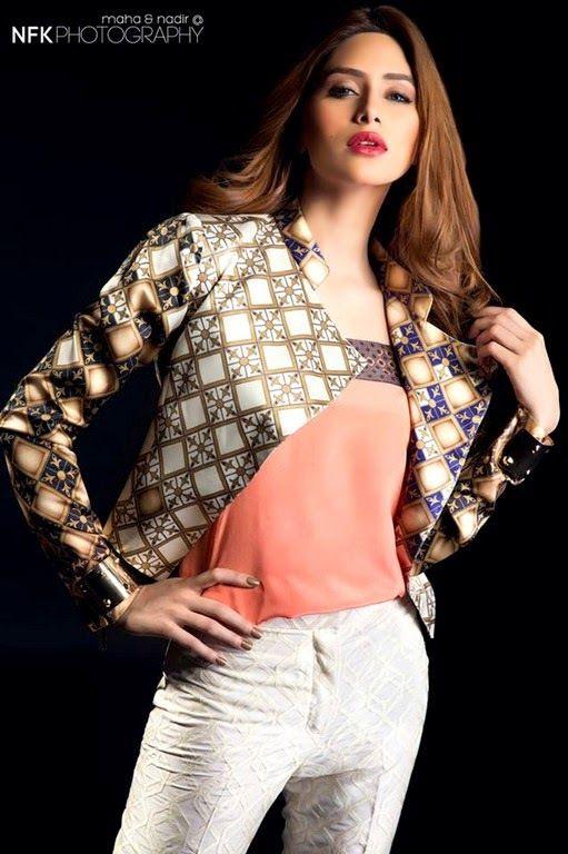 Dernière collection de prêt Eid Sania Maskatiya Western ligne 2014 pour les filles (5)