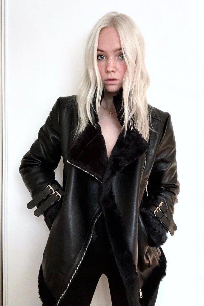 3cc6e6adf Black Faux Leather Oversized Moto Jacket   winter2   Jackets, Black ...