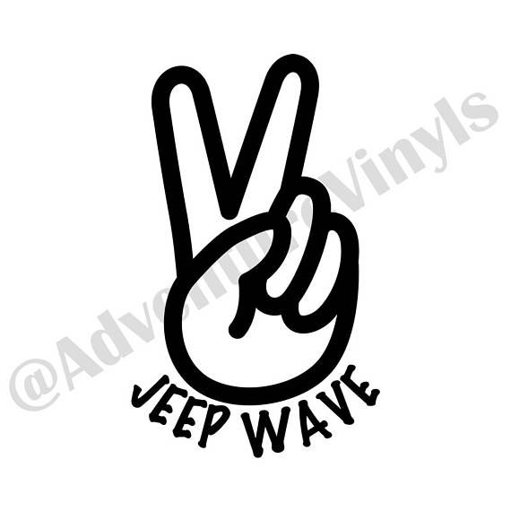 Jeep Wave! Peace Sign Vinyl Decal, Jeep Girl Decal, Jeep Girl Sticker, Jeep Wave Decal, Jeep Wave Sticker, Jeep Wrangler Decal, Jeep JK
