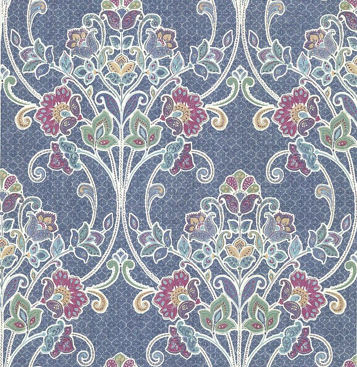 Delhi Floral Marine wallpaper by Albany