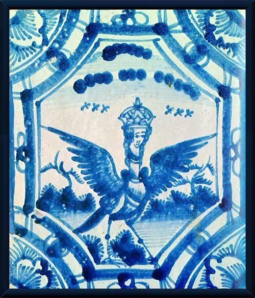 Дворец Меншикова. Печной изразец с птицей Сирин.