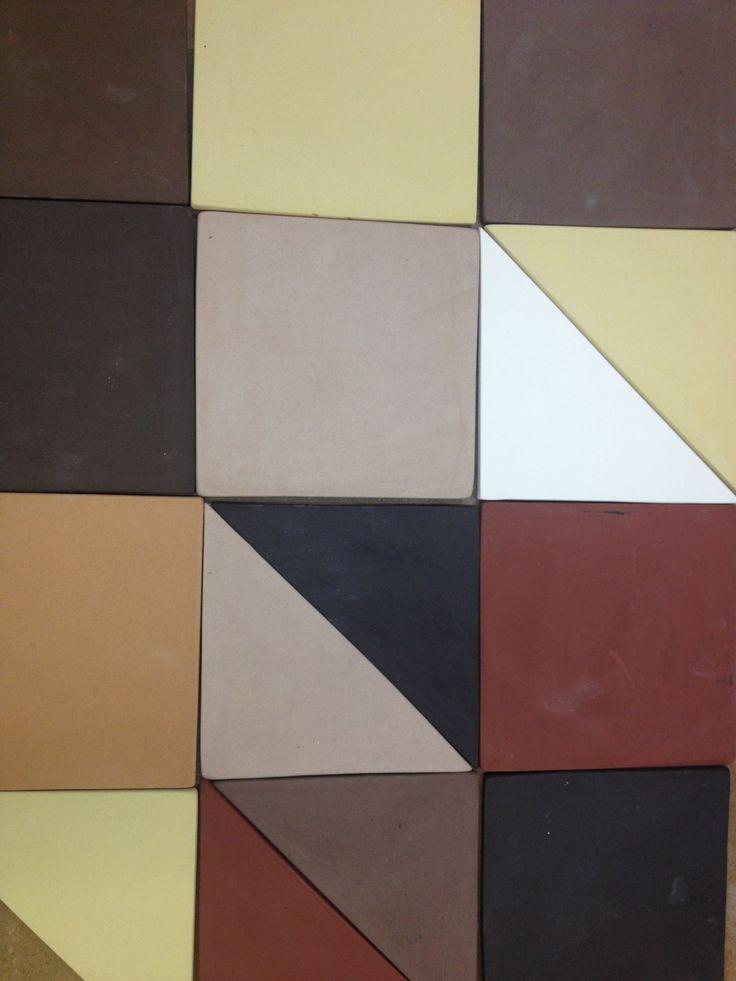 African geometry_unglazed handmade modular tiles (20x20mm)
