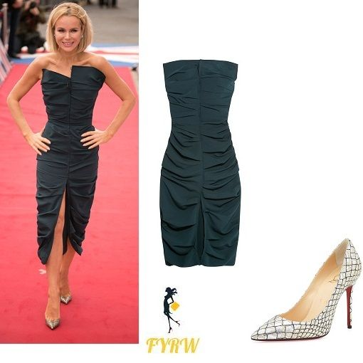 Follow my blog with Bloglovin Amanda Holden Navy Ruched Dress Britain's Got Talent Birmingham 2017 Declaration: This Blog is affiliated toShopstyleand the author will receive compensation f…