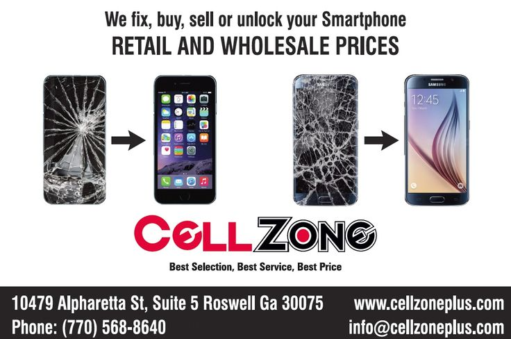 We sell cell phones New, used, and refurbish cell phones. We have all the latest accessories for you phone. We can fix your damaged phone Cracked screens, camera lens, power button, speakers, sensory cable International calling plans Calls Mexico, Brazil, Ukraine, Spain, Haiti, Colombia, Venezuela, and many more with some of the best companies:  Lycamobile, Univision Mobile, Ultra Mobile, TMobile, GoSmart, Net10 I'm Carlos, Give Me A Call | Cell Zone | (770) 285-5554 (se habla español)