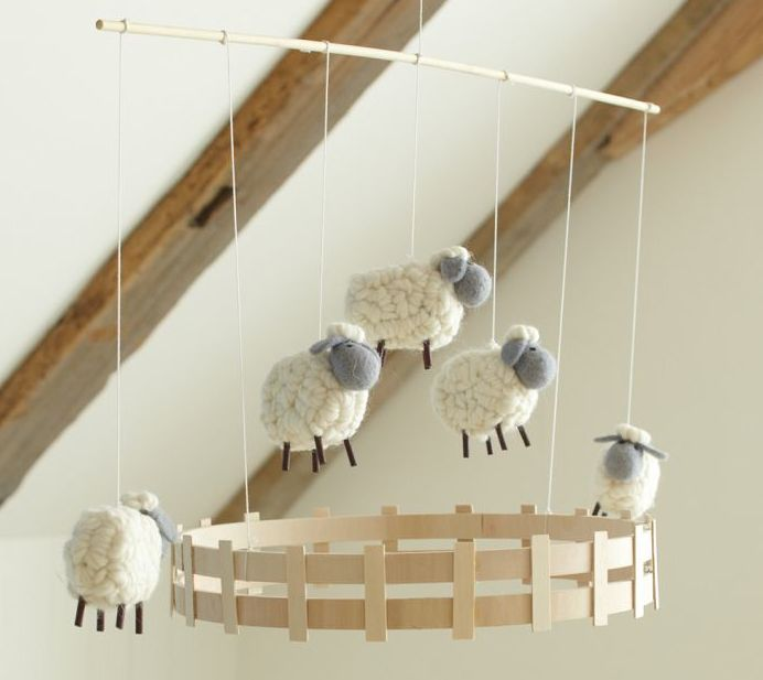 Little Sheep!  The corral makes this piece a winner!