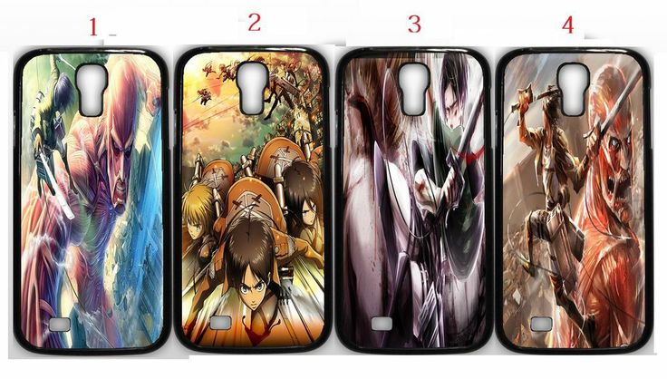 Shingeki No Kyojin Attack On Titan Anime Manga Samsung Galaxy S4 Black (1Pcs)