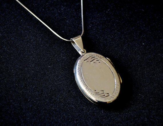 Locket Sterling Silver Locket engraved locket 925 locket