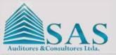 SAS Auditores y Consultores  Ofrecemos Servicios de Auditoría:    • Revisoría Fiscal  • Auditoría Externa  • Auditoría de Gestión y Resultados  • Procedimientos previamente acordados  • Revisión de estados financieros  • Revisión de conversiones de estados financieros