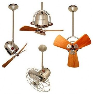 Bianca Directional Ceiling Fan - eclectic - ceiling fans - YLighting