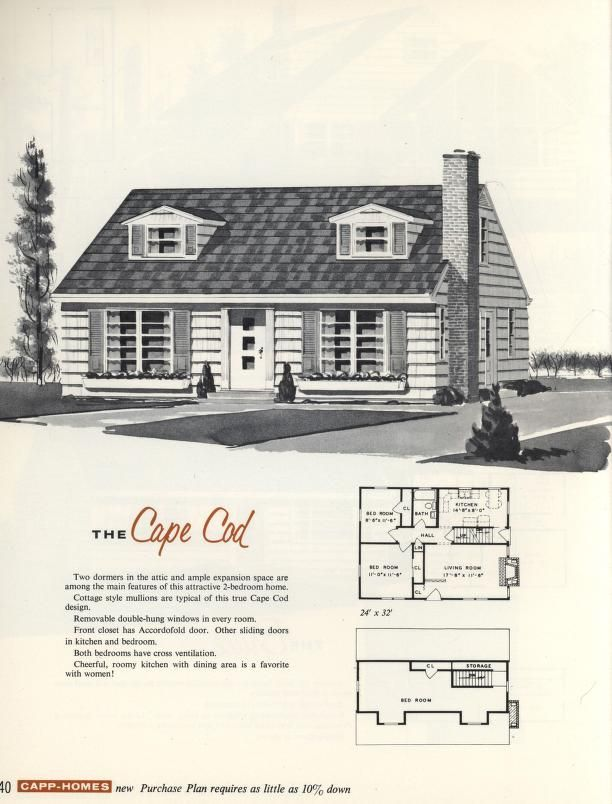 The cape cod 1960 capp homes vintage architecture for Cool house plans com