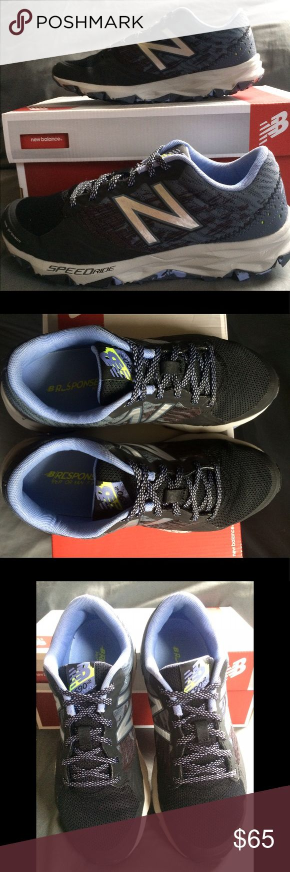 NEW BALANCE T690 V2 Women's New Balances, are great for trail running. They are black and a mixture of a blue-ish, purple-ish color with a bit of silver. Only worn twice, in great condition! Item runs true to size! Offers are warmly welcomed! (: New Balance Shoes Sneakers