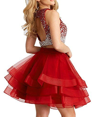 5dcd5c3dfcf LovingDress Homecoming Dresses Sparkly Beading Bodice Prom Dresses Short  Open Back Sequins Party Gowns at Amazon Women s Clothing store