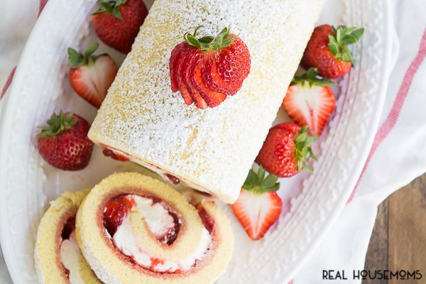 Strawberries and Cream Swiss Roll is a refreshing summer cake that is sure to impress and satisfy your guests!