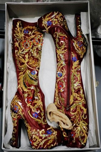 Vivienne Westwood boots that a prince (or Prince!) would love.
