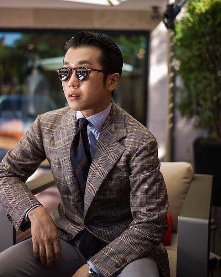 """5103d4827f12 We are happy to see one of the best dressed men in the world @chad_park_ of  @chad_park_ wearing a Viola Milano """"Striped Shantung"""" tie... ➡ …"""