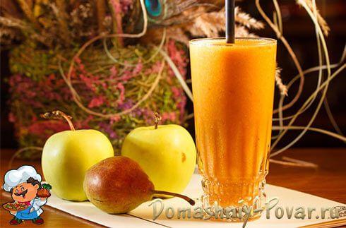 Тыквенный смузи с яблоком