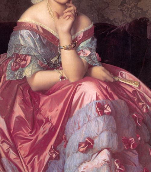 """Baroness Betty de Rothschild"" (1848) (detail) by Jean-Auguste-Dominique Ingres (1780-1867)."