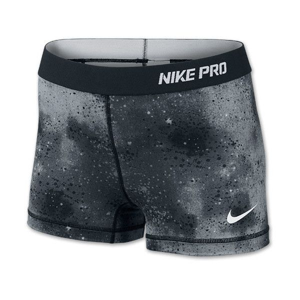 "Women's Nike Pro Core 2.5"" Print Running Shorts - I need this for cheer cuz like school colors ✊⚫⚪⚫⚪"