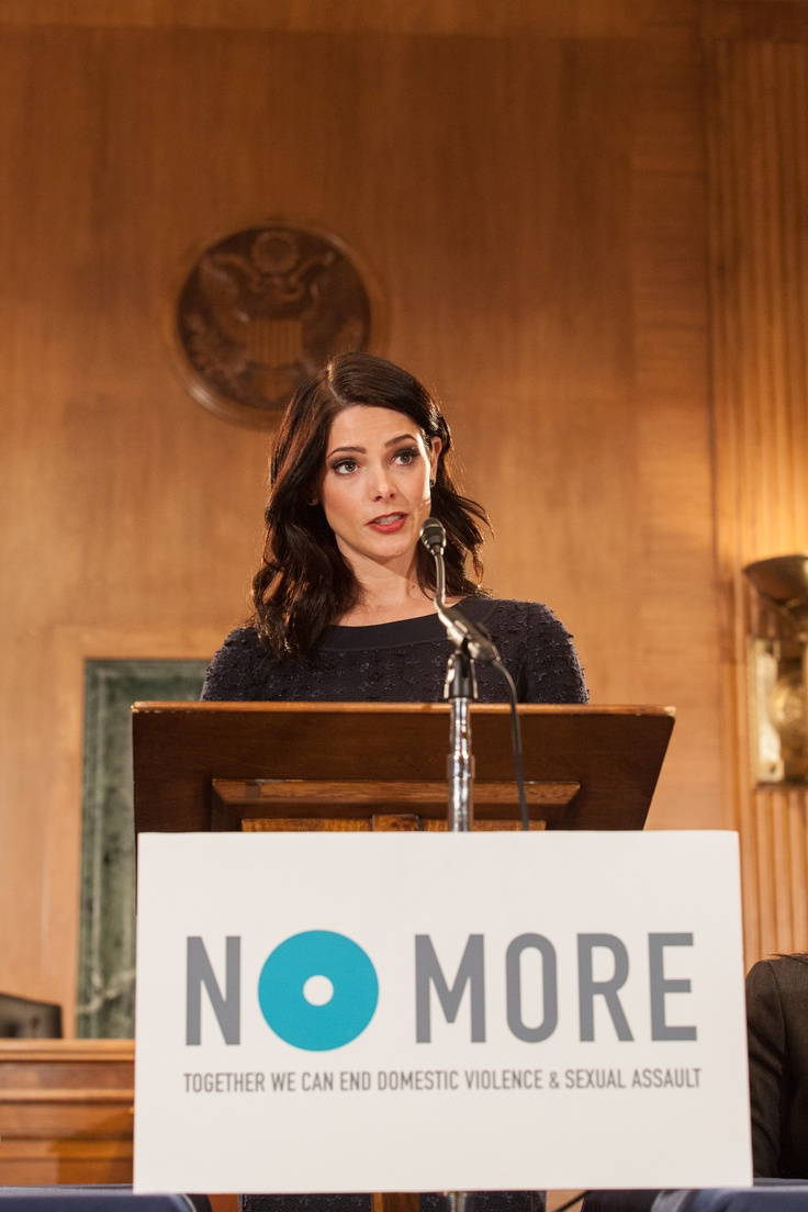 Actress and mark Brand Ambassador, Ashley Greene.  A briefing for the launch of the NO MORE symbol at the Dirksen Senate Office Building featuring a speech from Ashley Greene, of Twilight, Meg Lerner, President of mark, Senator Mike Crapo (R-ID), Christine Mau, and Robert Schreiner M.D. Wednesday March 13, 2013. © 2013 Lindsay King. — in Washington, DC.