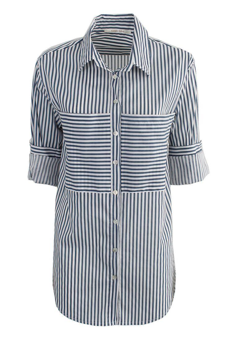 Camicia riga tascone | Giorgia & Johns