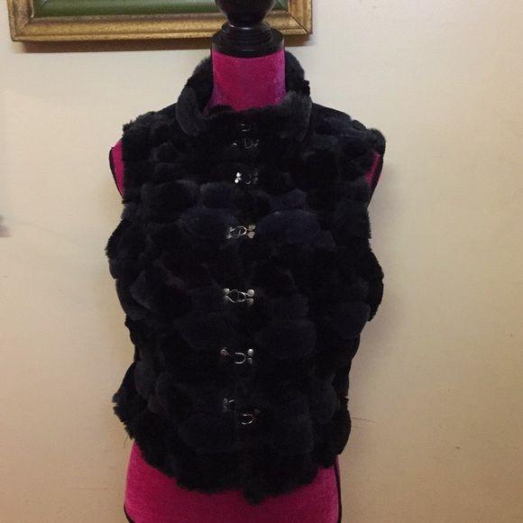 LIP SERVICE Bubble Fur vest #41-104