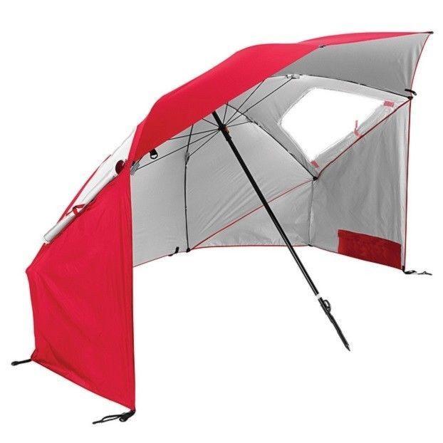 Pop Up Beach Tents Sun Shelter Tent Shade Umbrellas Sun Cover Sand Umbrella Red
