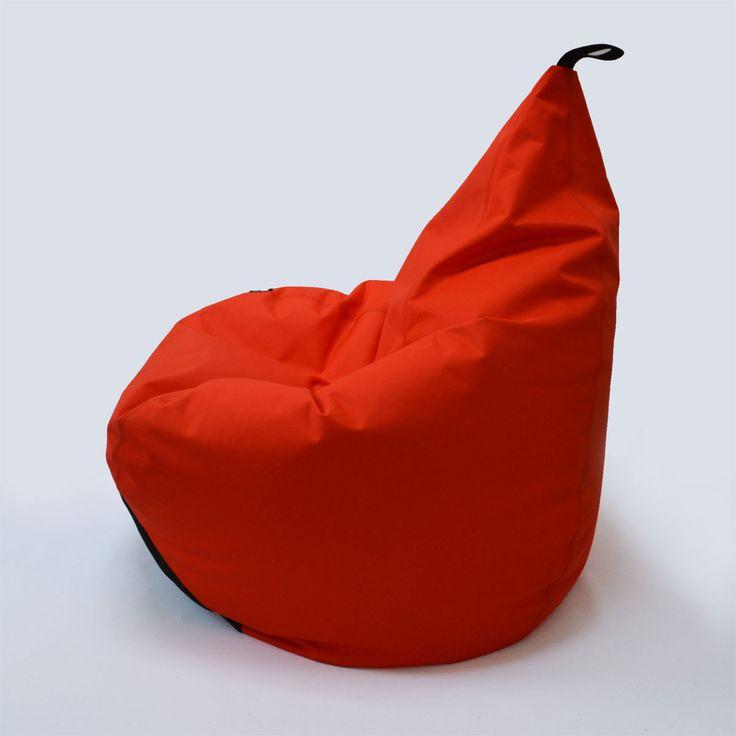 Tipi Red Beanbag Pouffe