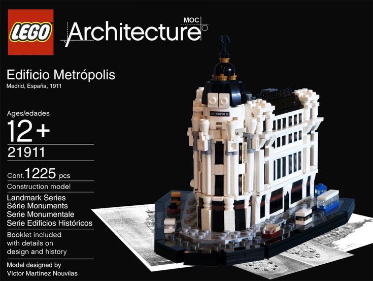 Edificio Metr 243 Polis Lego Model By Victor Martinez