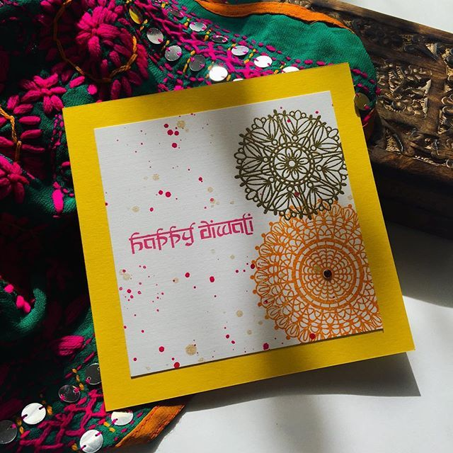 DIWALI // 30th October  Finally getting some Diwali cards out, 250 handmade Diwali cards are making they're way over to the USA  will be taking orders for our cards. DM or email  #Diwali #festivaloflight #diwalicard #diwali2016 #handmadwithlove #indianfestival #hindu #newyear #goodoverevil #cards #cardmaking #india #stamping #paperie #stationeryboutique #calledtobecreative #maniscreative #rangoli #henna #mendhi
