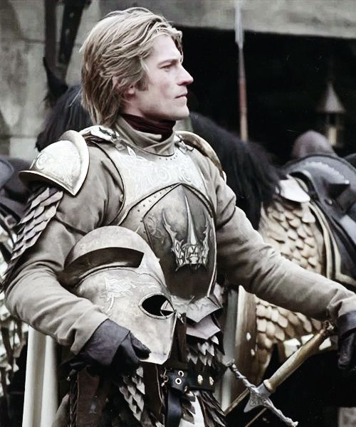 Jaime Lannister, known as the Kingslayer, is the second child and first-born son of Lord Tywin Lannister of Casterly Rock and his wife Lady Joanna, also of House Lannister. He is the twin brother of Queen Cersei Lannister. Raised at the age of fifteen to the Kingsguard of the Mad King, Aerys II Targaryen, Jaime became the youngest member in the history of the prestigious knightly order.